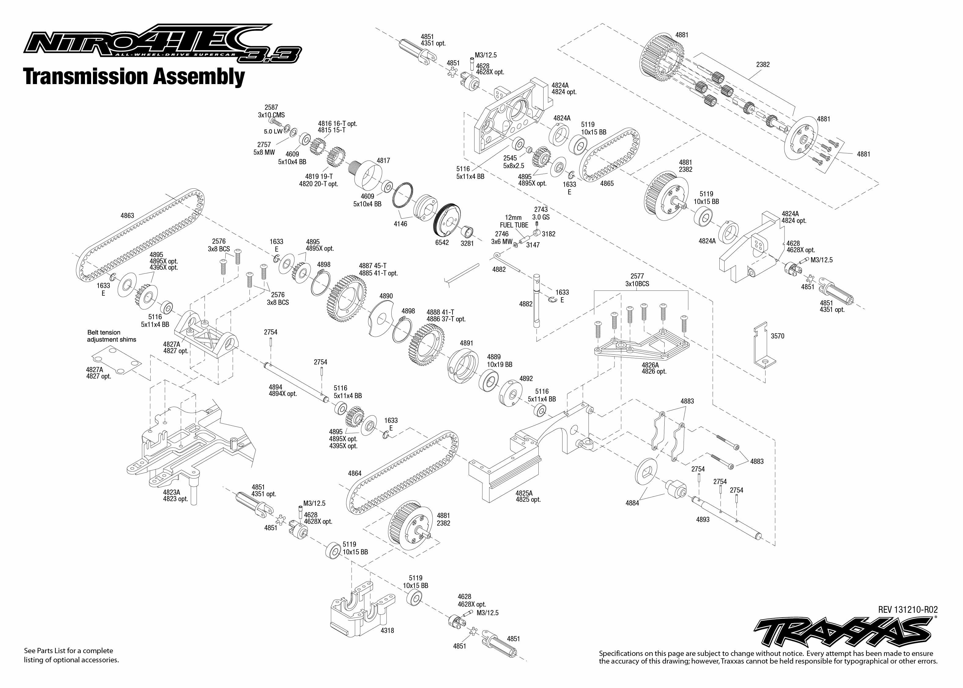 Exploded Part View Traxxas Funny Car